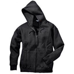 Hooded Zipp Jacke , schwarz
