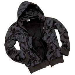 Hooded Zipp Jacke , russian-night-camo
