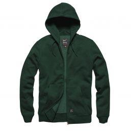 Hooded Zip Jacke Redstone von Vintage Industries, grün