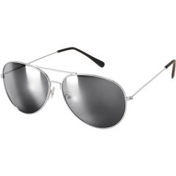 Pilotenbrille silber, verspiegelt, silber