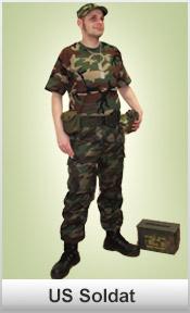US Soldat woodland