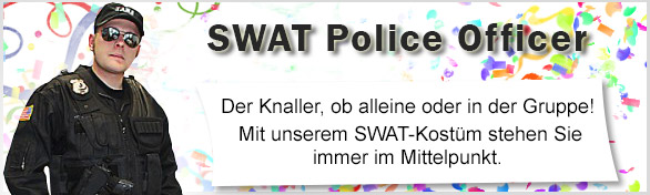 SWAT Police Officer Karnevals-Kostüm, Faschings-Verkleidung SWAT Police Officer